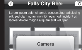 Mobile App Mockup/Falls City Beer